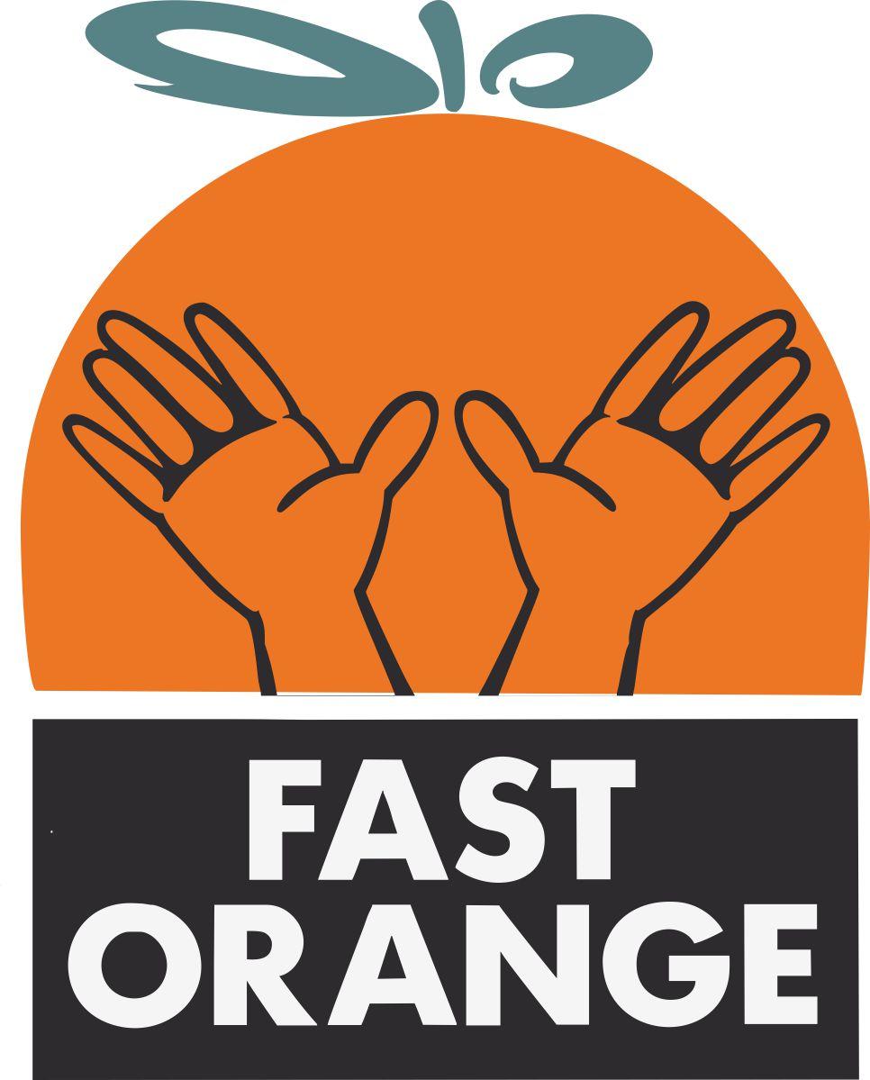 Наклейка логотип FASTORANGE