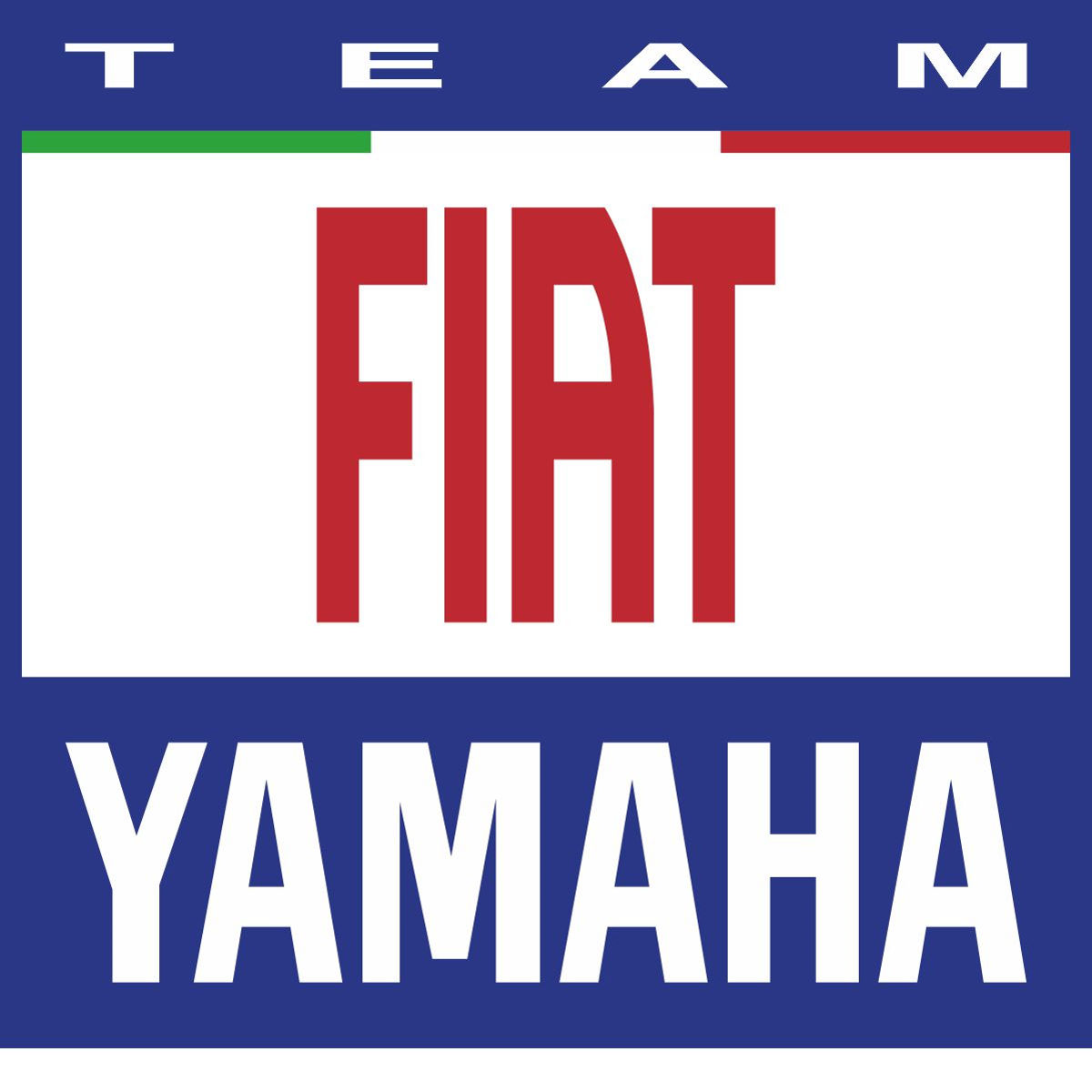 Наклейка логотип FIAT-YAMAHA-TEAM