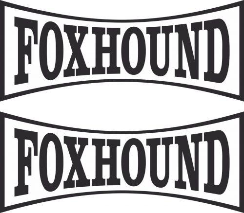 Наклейка логотип FOXHOUND