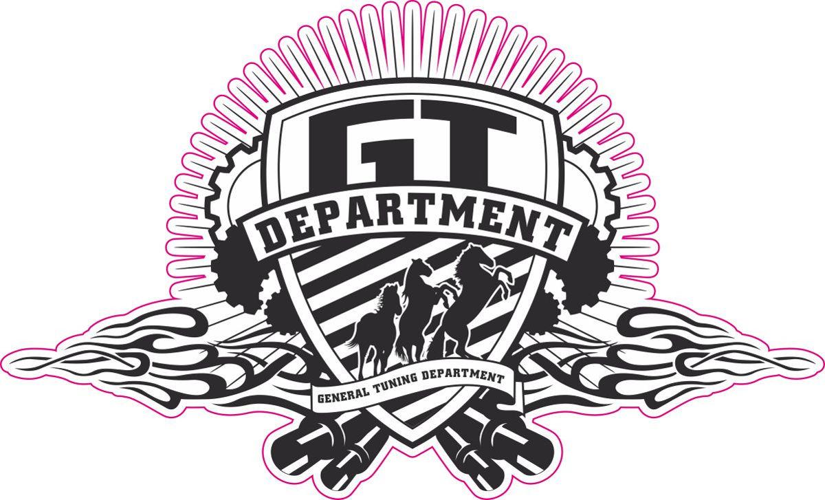 Наклейка логотип GT-DEPARTMENT