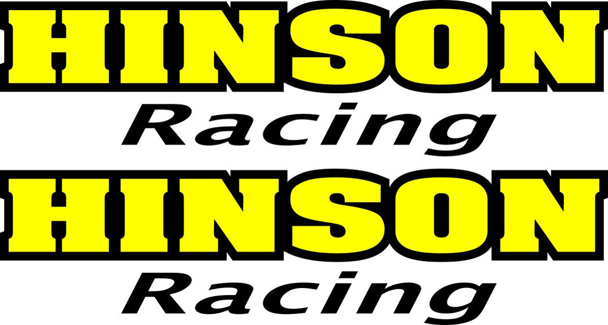 Наклейка логотип HINSON-RACING
