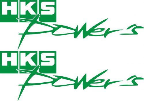 Наклейка логотип HKS-POWERS