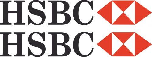 Наклейка логотип HSBC