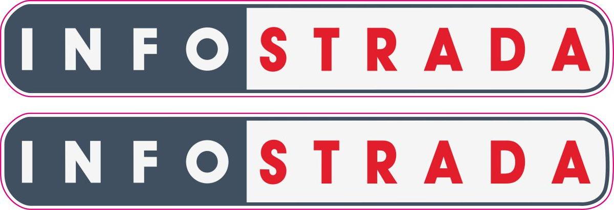 Наклейка логотип INFOSTRADA