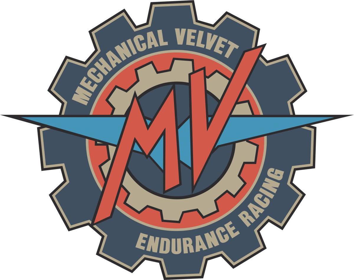 Наклейка логотип MECHANICAL-VELVET-ENDURANCE-RACING