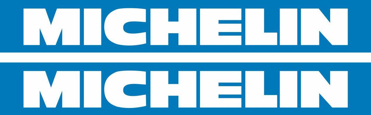 Наклейка логотип MICHELIN-BLUE-WHITE