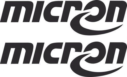 Наклейка логотип MICRON