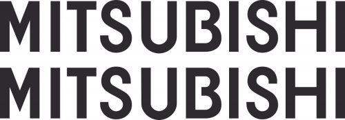 Наклейка логотип MITSUBISHI