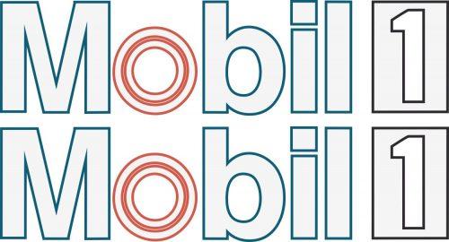 Наклейка логотип MOBIL1 (2)