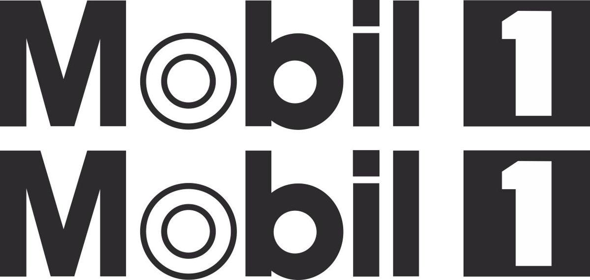 Наклейка логотип MOBIL1-BLACK