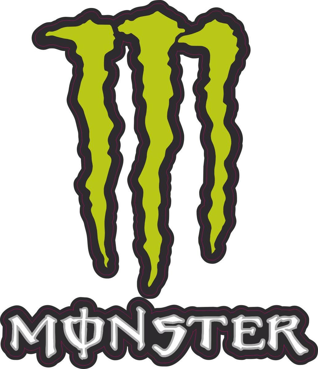Наклейка логотип MONSTER