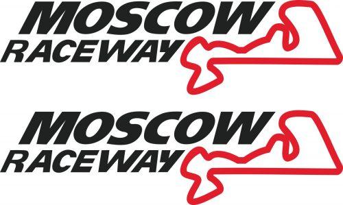 Наклейка логотип MOSCOW-RACEWAY