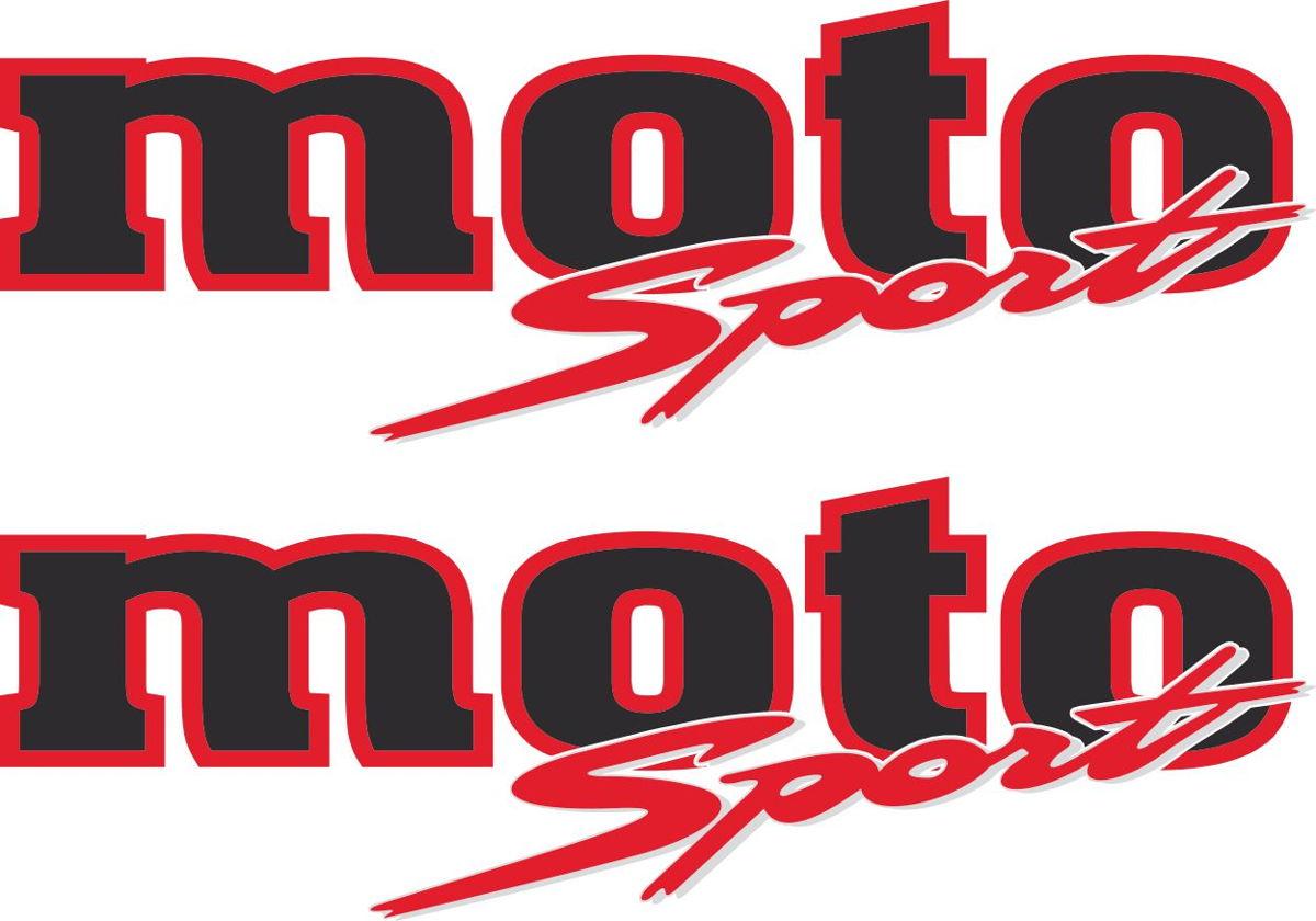 Наклейка логотип MOTO-SPORT