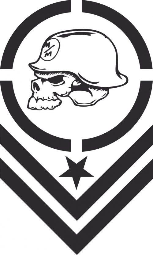 Наклейка логотип MULISHA-ROCKSTAR