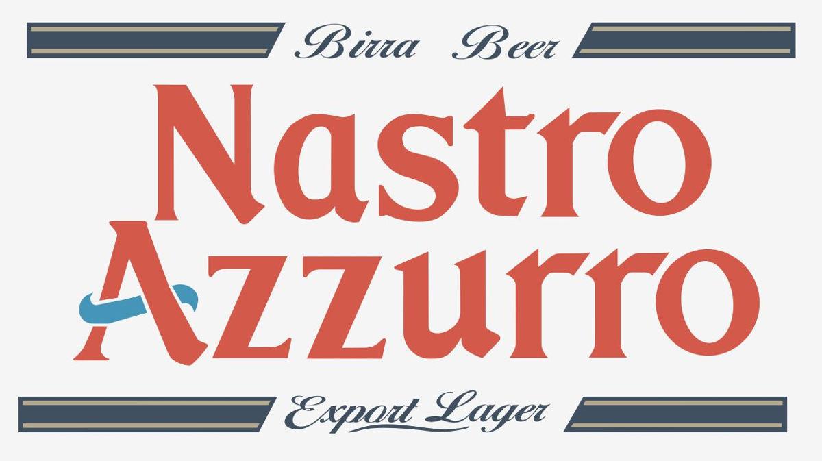 Наклейка логотип NASTRO-AZZURO