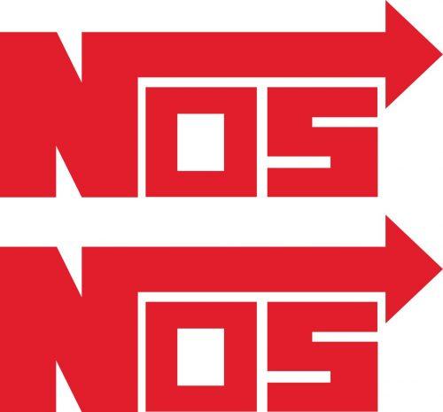Наклейка логотип NOS