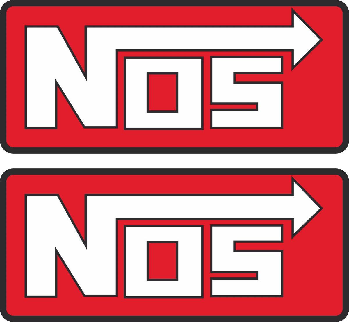 Наклейка логотип NOS-RED