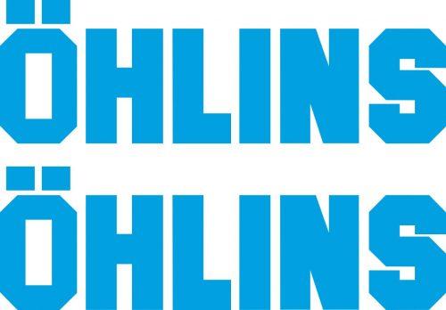 Наклейка логотип OHLINS-2