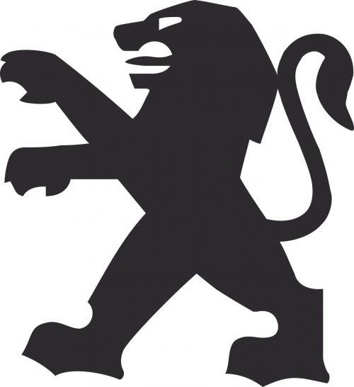 Наклейка логотип PEUGEOT