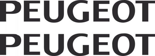 Наклейка логотип PEUGEOT-TXT