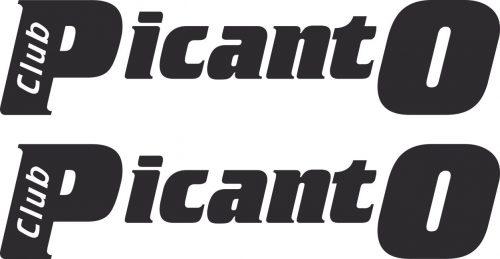 Наклейка логотип PICANTO-CLUB.RU