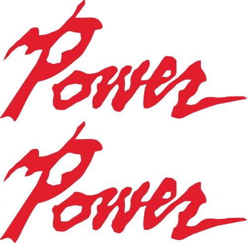 Наклейка логотип POWER