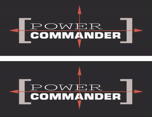 Наклейка логотип POWER-COMMANDER