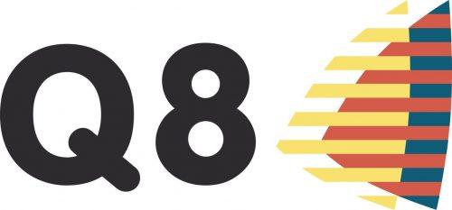 Наклейка логотип Q8OILS