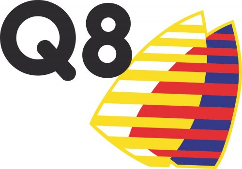 Наклейка логотип Q8-OILS
