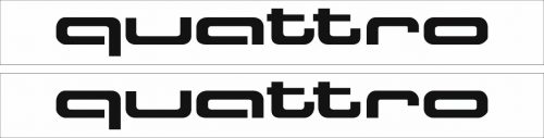 Наклейка логотип QUATTRO