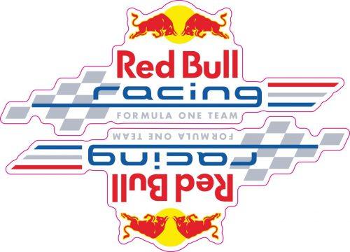 Наклейка логотип RED-BULL-RACING-F1-TEAM