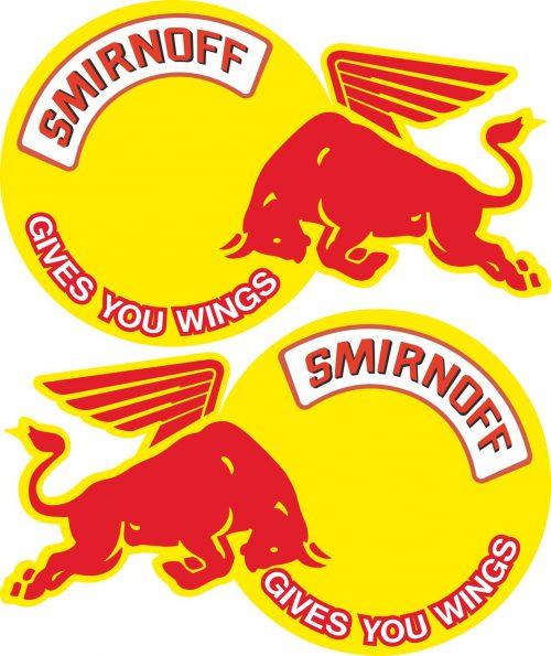 Наклейка логотип REDBULL-SMIRNOFF