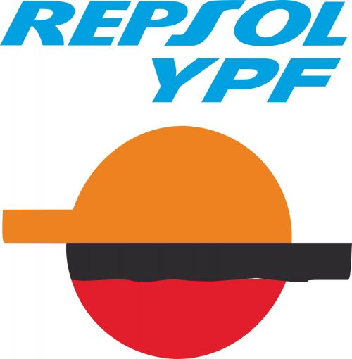 Наклейка логотип REPSOL