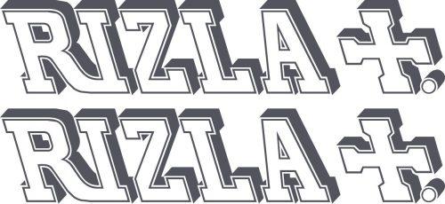 Наклейка логотип RIZLA+3D