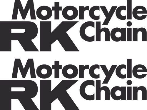 Наклейка логотип RK-MOTO-CHAIN