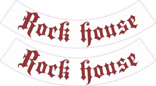 Наклейка логотип ROCK-HOUSE