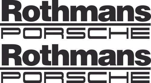 Наклейка логотип ROTHMANS-PORSCHE