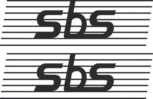 Наклейка логотип SBS
