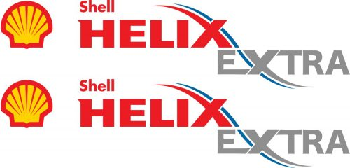 Наклейка логотип SHELL-HELIX-EXTRA