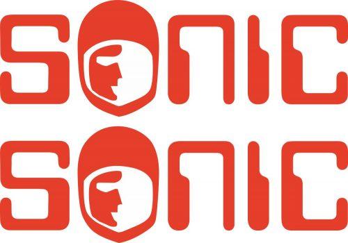 Наклейка логотип SONIC