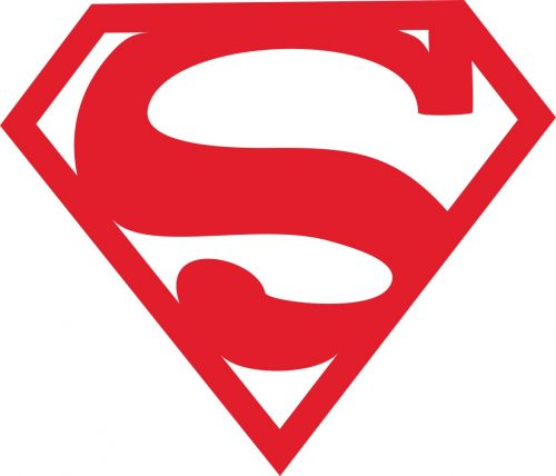 Наклейка логотип SUPERMAN