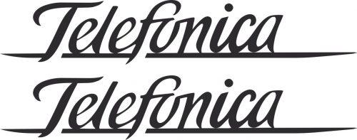 Наклейка логотип TELEFONICA