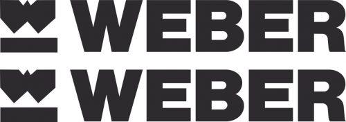 Наклейка логотип WEBER