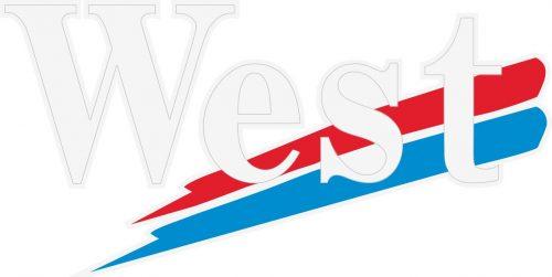 Наклейка логотип WEST