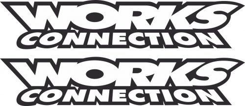 Наклейка логотип WORKS-CONNECTION