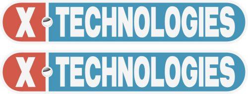 Наклейка логотип XTECHNOLOGIES