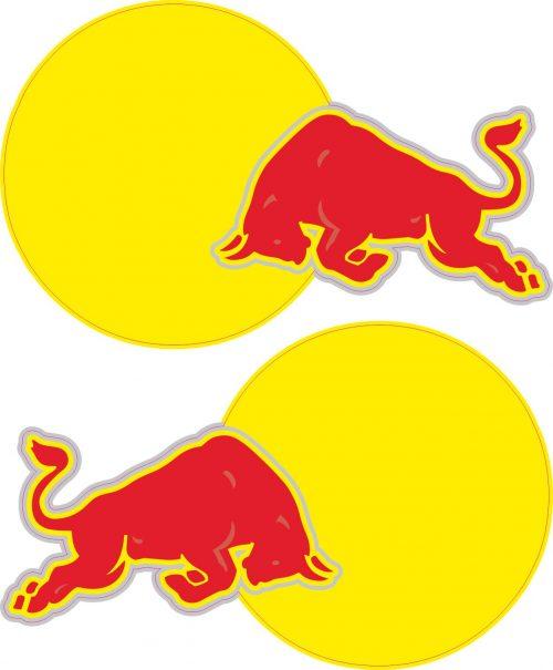 Наклейка логотип RED-BULL