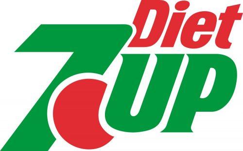 Наклейка логотип 7UP-DIET