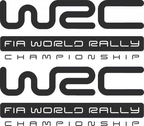 Наклейка логотип WRC-FIA-WORLD-RALLY