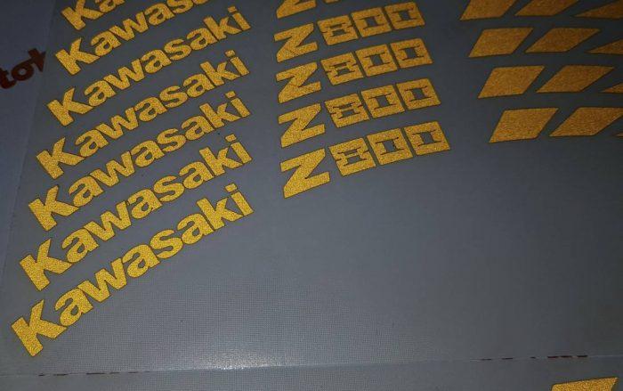 Комплект наклеек На колёса Kawasaki Z800